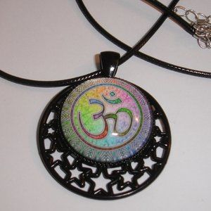 Ohm Necklace Metaphysical necklace 20 inch cord